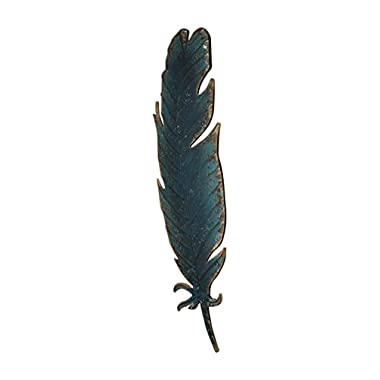 Midwest-CBK Large Feather Wall Decor Blue