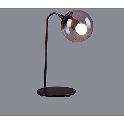 XFZ/creatieve, industriële, klassieke, minimalistische, bureaulamp met volledig infrarood gemaakt lichaam en donker transparant glas bol van lampenkap voor decoratie, slaapkamer, studie
