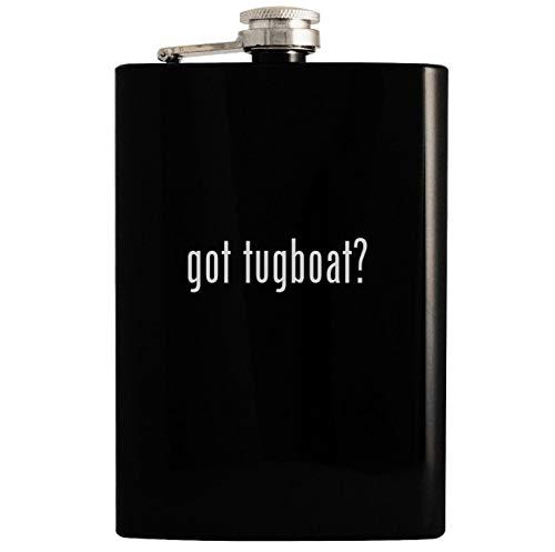 got tugboat? - Black 8oz Hip Drinking Alcohol Flask