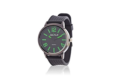 Orologio da polso. Quadrante di colore: nero/verde