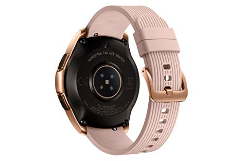 Samsung Galaxy Watch, Runde Bluetooth Smartwatch Für Android, drehbare Lünette, Fitness-tracker, 42mm, ausdauernder Akku, LTE, Silber (Deutche Version)