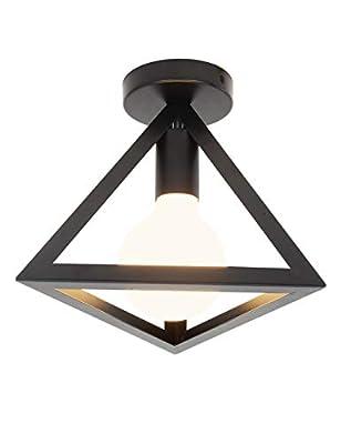 Black Geometric Ceiling Light
