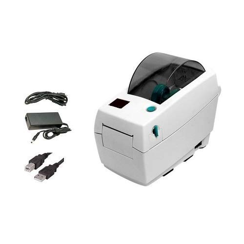 Zebra LP2824 Barcode Label Printer, Direct Thermal, USB Interface, 2 Inch, with Power Supply (Renewed)