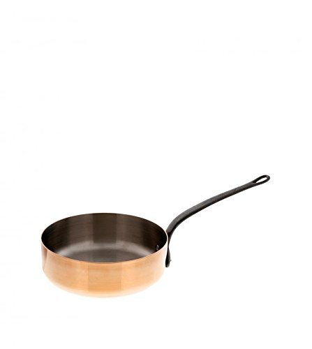 DE BUYER Gerade Sauteuse, Kupfer, orange, 16 cm