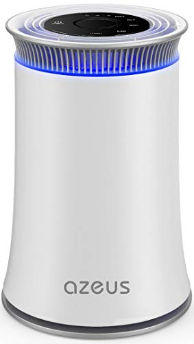 AZEUS High CADR Air Purifier for Large Rooms to 376ft², Fast Purification Air Purifier for Home, True HEPA Filter Air Cleaner, Effective for Pollen, Smoke, Dust, Pet Dander and Asthma, Quiet with Night Light.