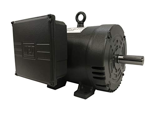 WEG 7.5 HP 3450 RPM Single Phase Electric Motor 184T Frame ODP 208-230 Volts 00736OS1C184T