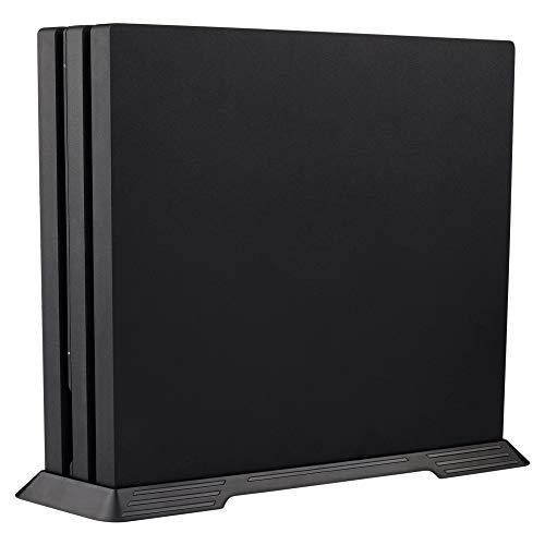 eXtremeRate Vertikaler Stand Standfuß für Playstation 4 PS4 Pro mit Stabiler Fuß und Lüftungsschlitzes Design(Schwarz)