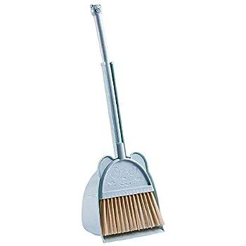 MAYEV Mini Broom with Duspan for Kids,Little Housekeeping Helper Set  Blue