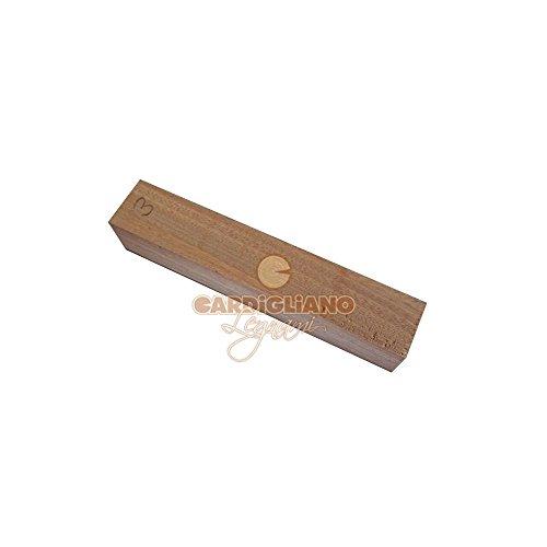 Legno di sapelli per costruire le penne al tornio dimensioni 190 x 34 x 34 mm