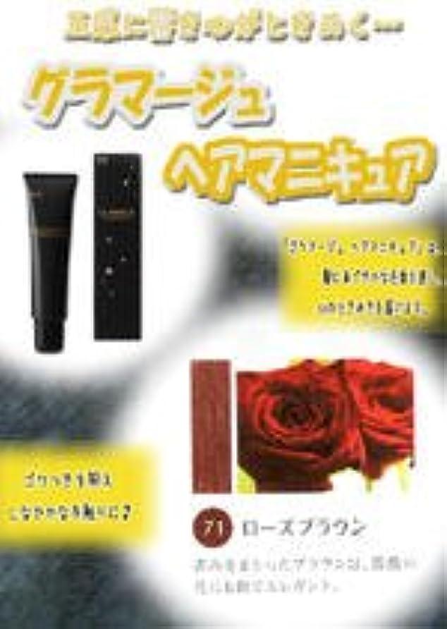 ケープバッテリー劇場HOYU ホーユー グラマージュ ヘアマニキュア 71 ローズブラウン 150g 【ブラウン系】
