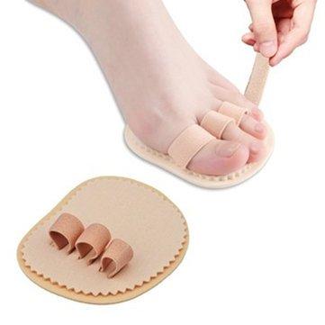 Footsmart Toe Straightener - Best Toe Straightener - Left Right Foot Triple Toes Separators Straightener Bunion Protector - Left (Foot Toe Straighteners)