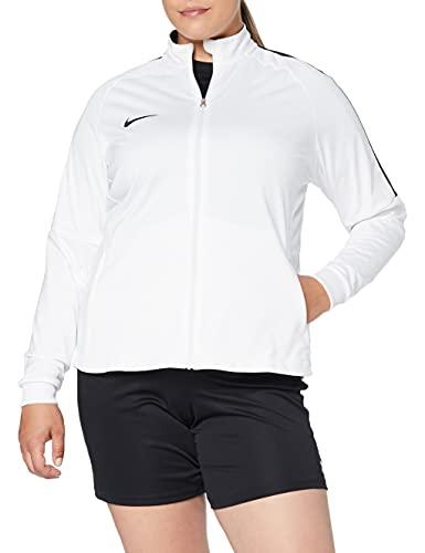 Nike W NK Dry Acdmy18 Trk Jkt K Sport jacket, Mujer, White/ Black/ Black, L