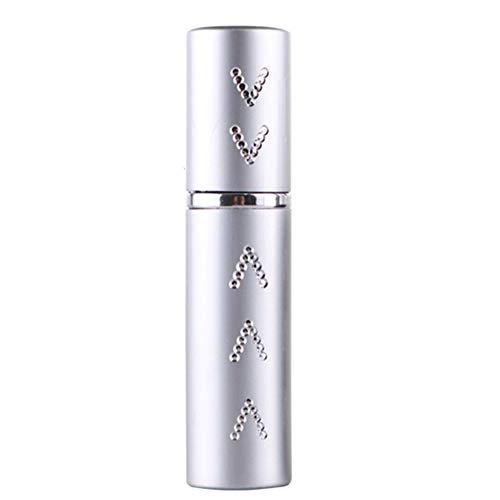 beautyhe Flacone Spray Non Tossico Atomizzatori di Profumo Flacone Spray Vuoto Mini Flacone da Viaggio per Profumo Riutilizzabile per Viaggi in Campeggio Silver