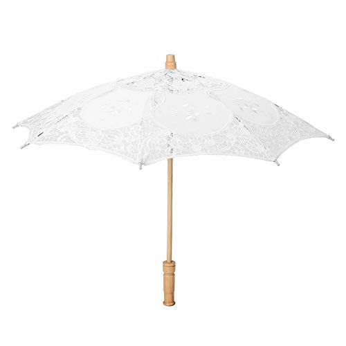 Delaman bruid paraplu handgemaakte kant bloem borduurwerk parasol bruiloft bruid fotografie paraplu