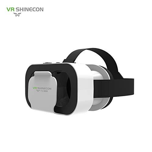 FairytaleMM Virtual Reality VR Box VR SHINECON 5.0 Brillen Headset Für 4,7-6,0 Zoll Smartphone Super Mini Und Leicht (weiß)