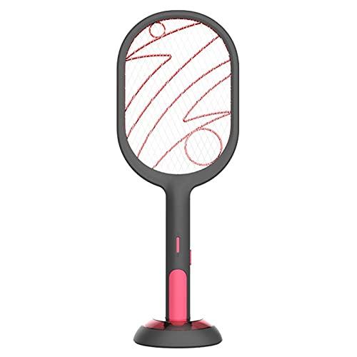 BaoYPP Matamoscas Eléctrico 2-en-1 Bug Zapper Raqueta USB Carga Eléctrica Fly Swatter Mosquito Killer Lámpara Fácil de Usar (Color : White, Size : One Size)