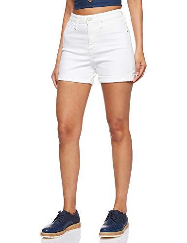 Lee Mom Short Pantalones Cortos, Marfil (Off White EW), 31W para Mujer