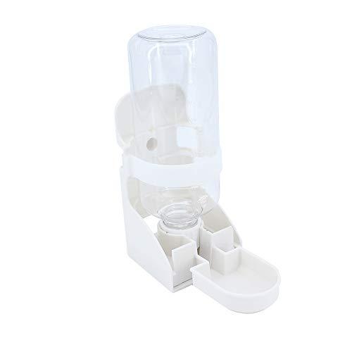 Gearific Fuente de Agua automática para Mascotas de 500 ml, alimentador de Agua, dispensador de Agua suspendido, Botella de Agua para Animales pequeños para Gatos, hámsteres, Conejos (Blanco)