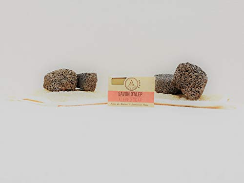 ALEPEO | Jabón de Alepo | Jabón con forma de rosa | Con laurel y aceite de oliva para el cuerpo y el pelo | 100% vegetariano, hecho a mano, sin aceite de palma, sin plástico
