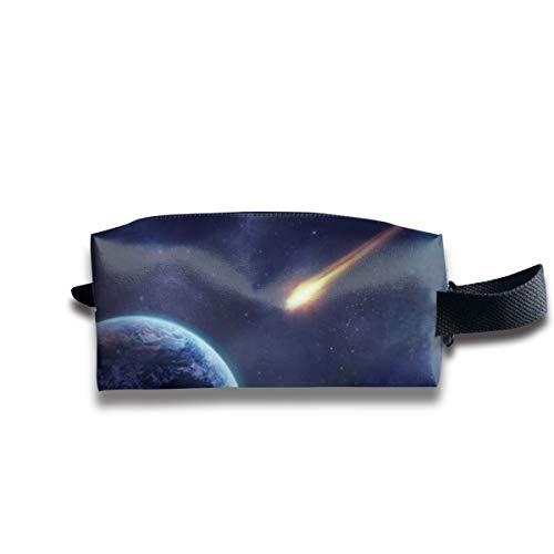 Meteorite Earth Planet Purple Stone Galaxy Miracle D Oxford Tuch tragbar Reise Make-up Kosmetiktasche Organizer Multifunktionstasche Kulturbeutel