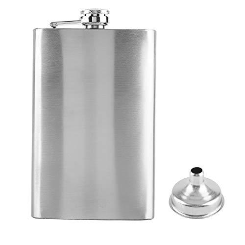 Botella de bolsillo de acero inoxidable Ladieshow para licor de whisky, alcohol de vino(10oz)