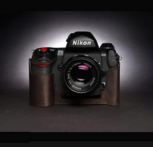 STST Estuche para cámara/Estuche de Cuero para cámara Base de Cuero Genuino Hecho a Mano para Nikon F4 F6,Cocoa Brown,F6