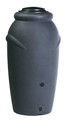 Regentonne 210l Anthrazit inkl. Blumentopf Aufsatz Regenfass Wassertank