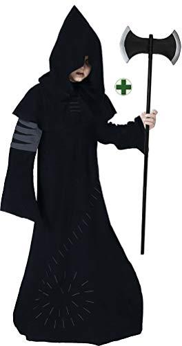 Karneval-Klamotten Warlock Kostüm Junge Halloween Horror Zauberer Magier Hexenmeister gruseliges INKL. Doppelaxt Kinderkostüm