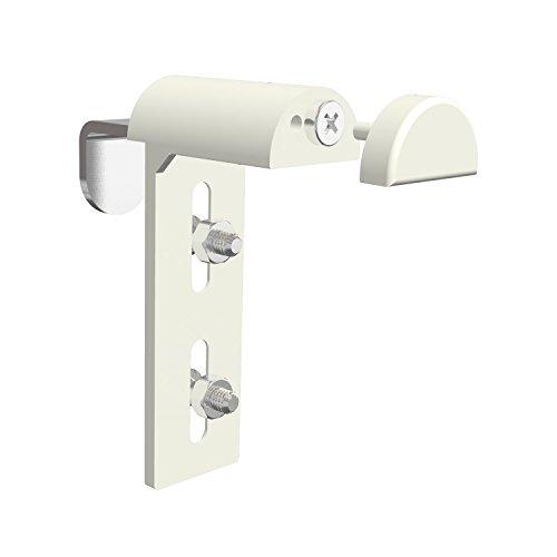 Flairdeco Rollo-Klemmträger Modell Rollostick, Montage ohne Bohren von Rollos, Metall-Kunststoff, Weiß, 2 Stück