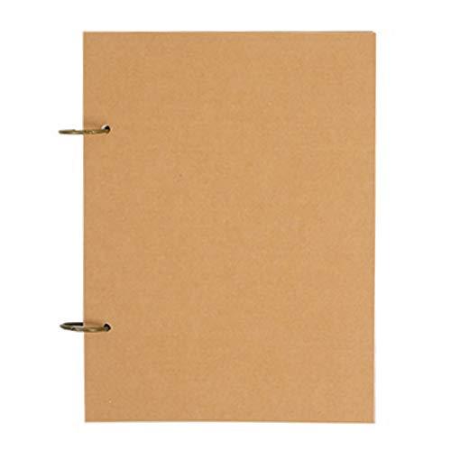AllBright スケッチブック A4 サイズ スケッチ イラスト 落書き メモ ノート クラフト紙 リング アルバム 100枚