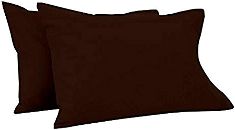 Little Sleepy Head Toddler 2pcs Pillowcase Fits Standard Size 14 X 19 For Crib Or Toddler Pillows 100 Cotton Pettern Solid Color Chocolate