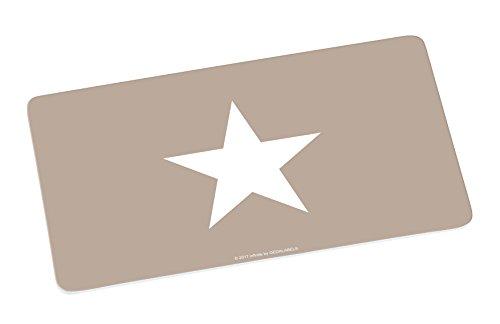 infinite by GEDA LABELS (INFKH) Brettchen, beige. Großer Stern Frühstücksbrett Melamin, 23,5 x 14 x 0.5 cm