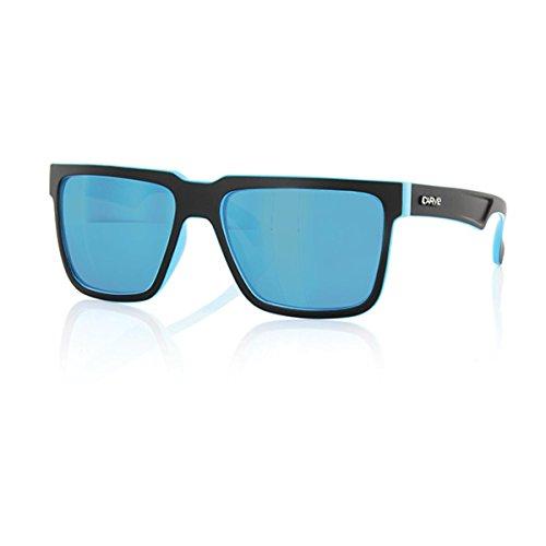 Carve Phenomenon Gafas de sol, Mat Black/Blue Revo, 58 Unisex