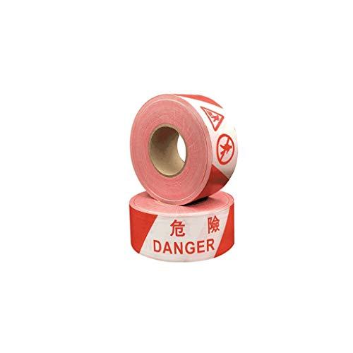 Cinta de advertencia Rojo-Blanco Barrera Peligro de cinta cinta de advertencia Peligro rollo de cinta for su uso en lugares de trabajo / áreas peligrosas o Halloween (500) Controlador de multitudes