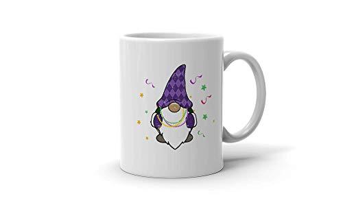 N\A aza de café Divertida Amante de los gnomos nórdicos Regalos Felices de Mardi Gras para Hombres Mujeres 200114 Taza Blanca de 11 oz