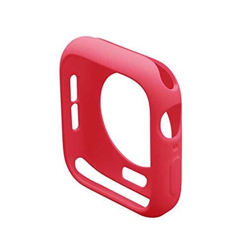 CMYYFA Funda de Tapa de TPU para Watch 5 4 3 Caso 44mm 40mm 42mm / 38mm para Watch Series 5 4 Funda Protectora Resistente a los rasguños (Color : Red, Dial Diameter : 44mm Series 4 5)