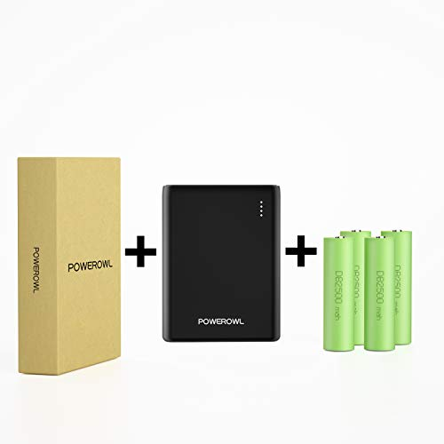 18650 Power Bank and Battery Charger, POWEROWL DIY Portable Battery Charger 2 USB Ports