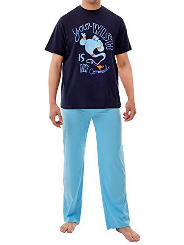 Disney Pijama para Hombre Aladdin Azul...
