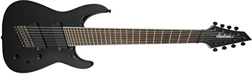 Jackson Soloist Arch Top SLAT8 FF Multiscale 8-String Electric Guitar (Gloss Black, Laurel Fingerboard)