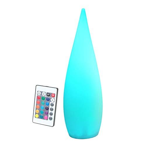 Luz de Estanque LED, con Mando a Distancia Lámpara de Pie Al Aire Libre, IP68 a Prueba de Agua, Alimentación USB Lámpara de Pie de Carga Creativa (Size : 80cm/31.5in)