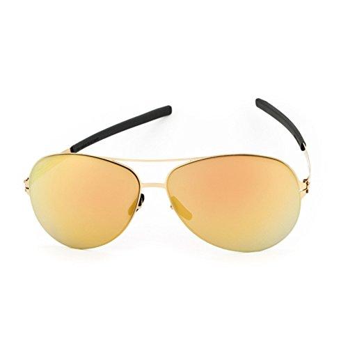 Ic!Berlin Raf S. Gold/Gold Sonnenbrille verspiegelt NEU
