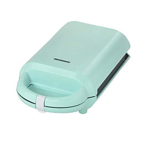 Mini fabricante de waffle, calefacción semiautomática a domicilio de calefacción a doble cara Adecuado para waffle o sándwich Máquina de desayuno de tres minutos, verde (color: verde) fangkai77