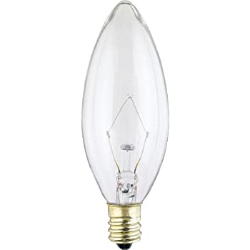 Satco Products S3782 120-Volt 25B9.5 Candelabra Base Clear Light Bulb Nuvo Lighting