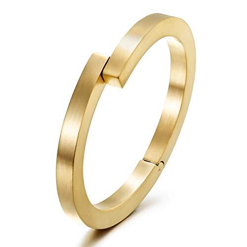 WISTIC Damen Armband Armreif Armkette Vergoldet aus Kristallen und Edelstahl Gold Rosegold Silber Ideal Geburtstag Hochzeit Geschenk für Frauen Mutter Mädchen (Gold3)