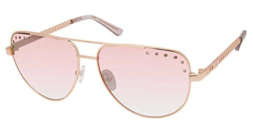 Harley-Davidson Women's Teardrop Aviator Sunglasses, Rose Gold Frame/Mirror Lens