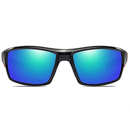 WHSS Gafas de sol Deportes al aire libre Anti-reflejante Antirreflejos Anteojos de aluminio Marco Negro Gris / Verde Lente Hombres y Mujeres Con La Mismo Gafas de Sol Polarizadas (Color: Verde)