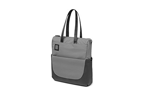 Moleskine ID Kollektion Messenger Bag mit Schultergurt (Gerätetasche für PC, Tablet, Notebook, Laptop und iPad bis 15 Zoll, Maße 24 x 10 x 38 cm) schiefergrau