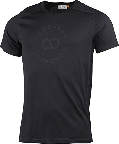 Lundhags Merino Light Sigil Tee Men, Black Modèle XXL 2020 T-Shirt Manches Courtes