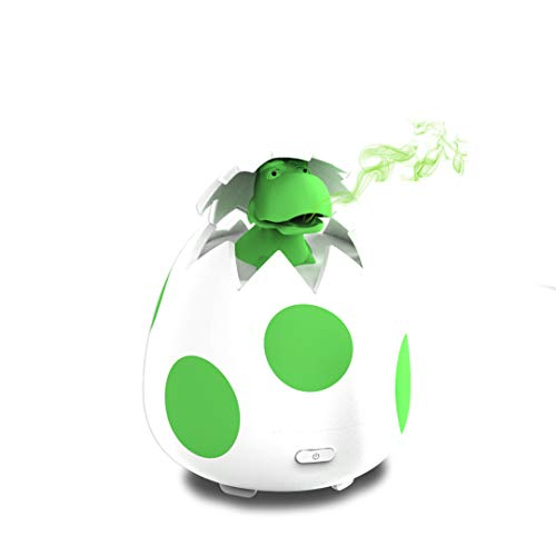 Simply Diffusers Dinosaur Egg Cute Aromatherapy Diffuser for Essential Oils - LED Lights and New Silicone Soft Top Design, USB Powered with Auto-shut Off Safety Feature. Great for any age. Boy or Girl