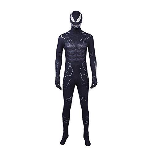 KILLM Halloween Adult Male Film Miracle Venom Symbiotic Strumpfhose Jumpsuit Männlich,S